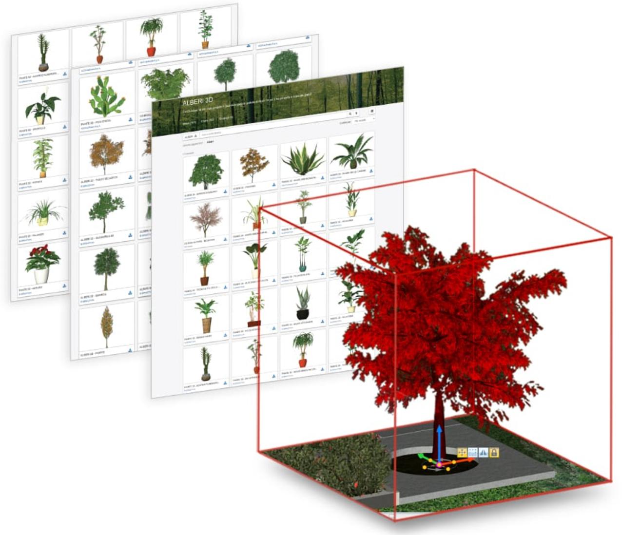 Compatibilidad con SketchUp BIM Software para paisajismo