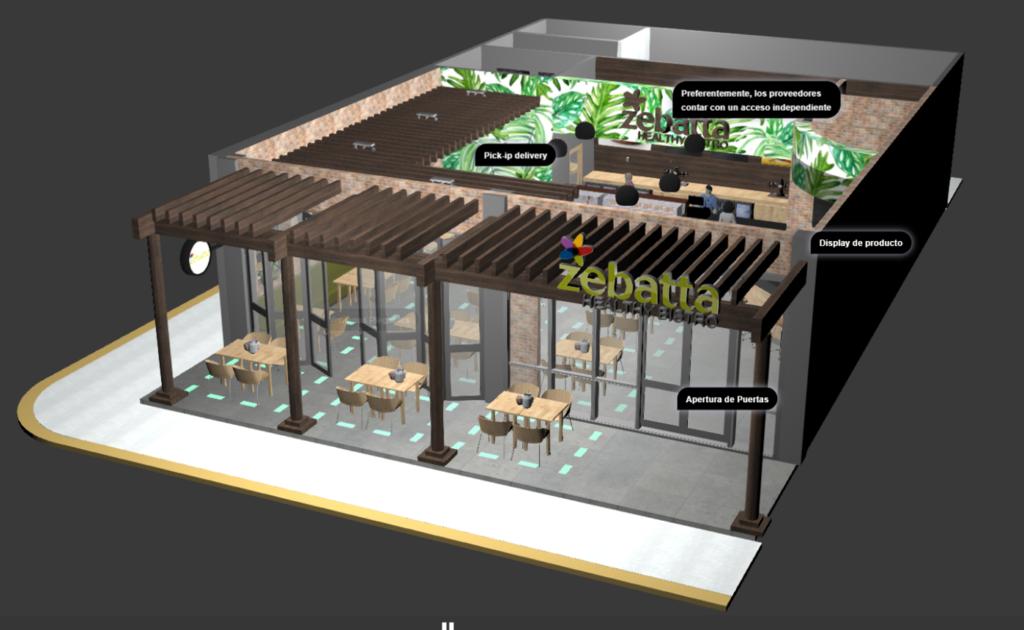 Modelo BIM Restaurante