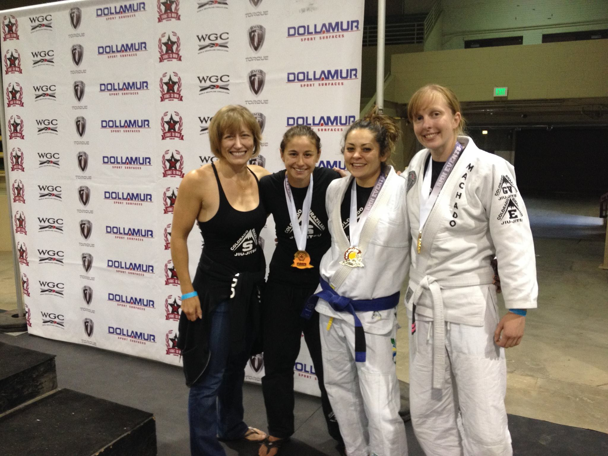Fight To Win 2014 Colorado Open - CBJJ Stapleton Ladies Crew - Coach Teri Stewart - Rachel Ballard - Natalie DiNingrat - Shannon Shomo