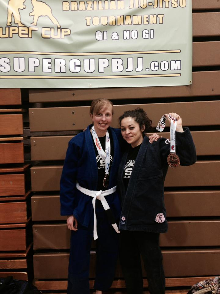 Natalie and Shannon - Medals all around - 03-29-2014 - Super Cup BJJ Tourney Colorado Springs