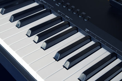 Electric piano close up