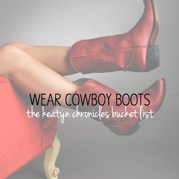 wear cowboy boots