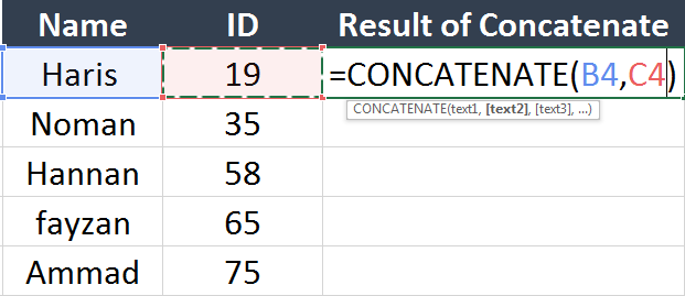 concatenate-1-Top-5-advanced-excel-functions