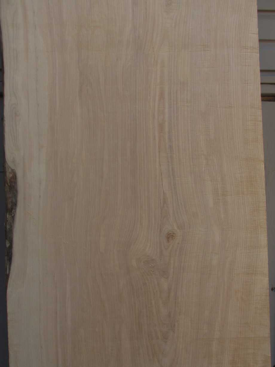 Closeup of grain middle section - Ash wood live edge slab for sale 28 wide by 99 inches long