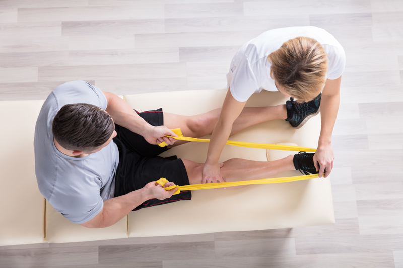 physiotherapy, elastic, tenser, band, knee, leg, assisted, assist, stretching, sport, Village, Physio