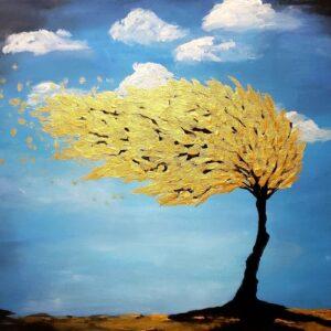 Golden Wind Tree