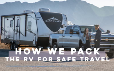 How We Pack the RV for Safe Travel