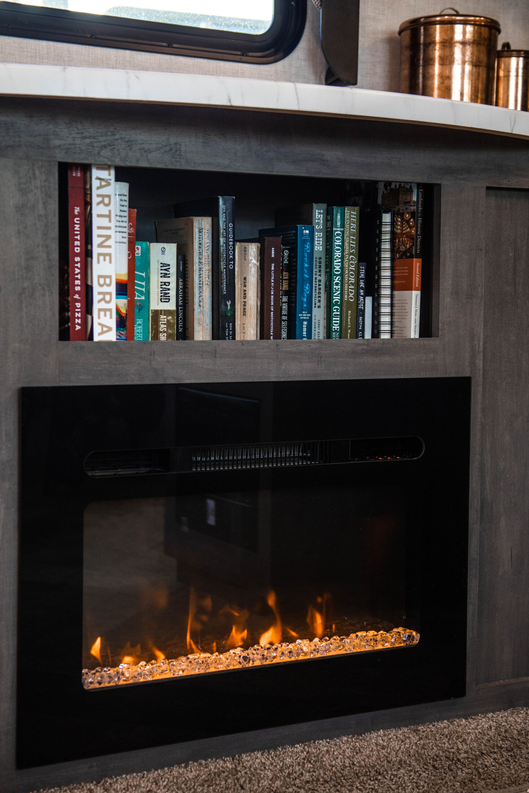 fire place in rv