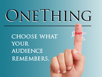 If you don't know your KEY take-away, how will your audience?