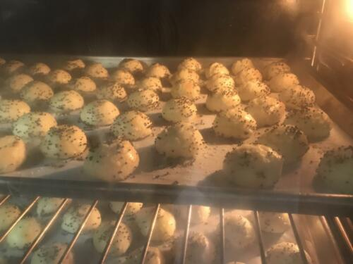 gougere in the making