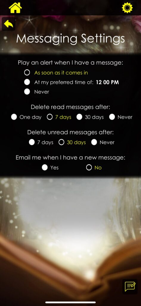 booksniffer-iphone-app-message-settings