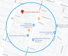 The Betty maps location and places near by