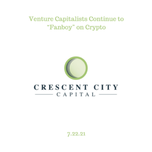 """Venture Capitalists Continue to """"Fanboy"""" on Crypto"""