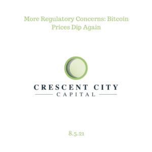 More Regulatory Concerns: Bitcoin Prices Dip Again