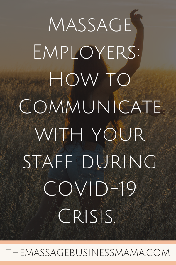 COVID-19 and Massage Employers