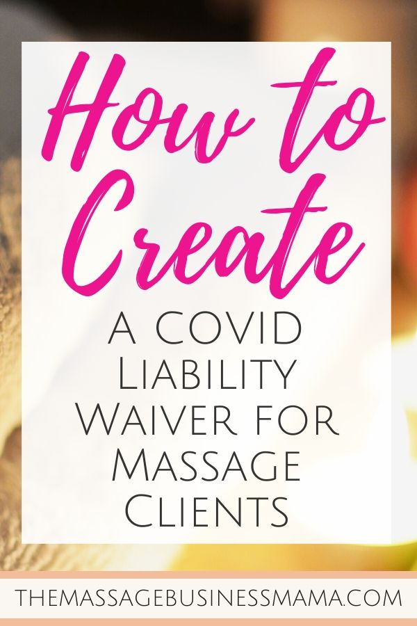 COVID Liability Waiver for Massage Therapists
