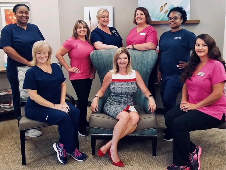 Image of the Women's Imaging Specialists (WIS) Eagles Landing staff