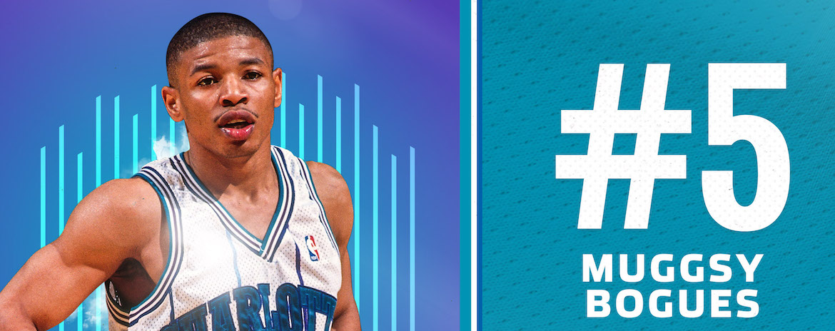Bogues Named 5th on Hornets 30th Anniversary Team