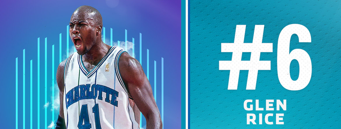 Rice Named 6th on Hornets 30th Anniversary Team
