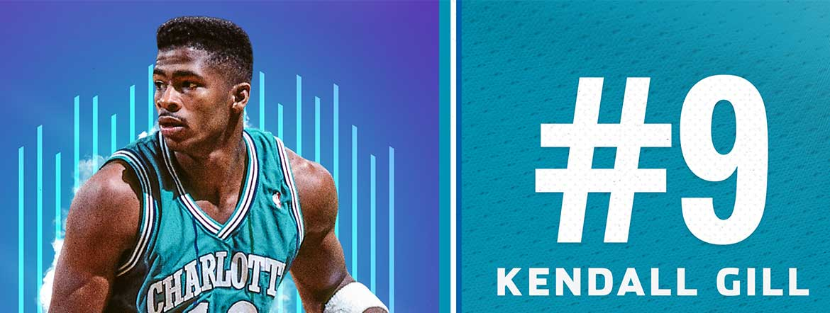 Gill Named 9th on Hornets 30th Anniversary Team