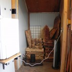 Door away, allowing free access. Racks in back will be handy for small pieces