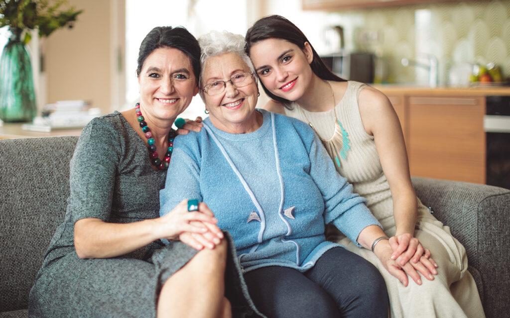 caregiving 3 generations women FTR