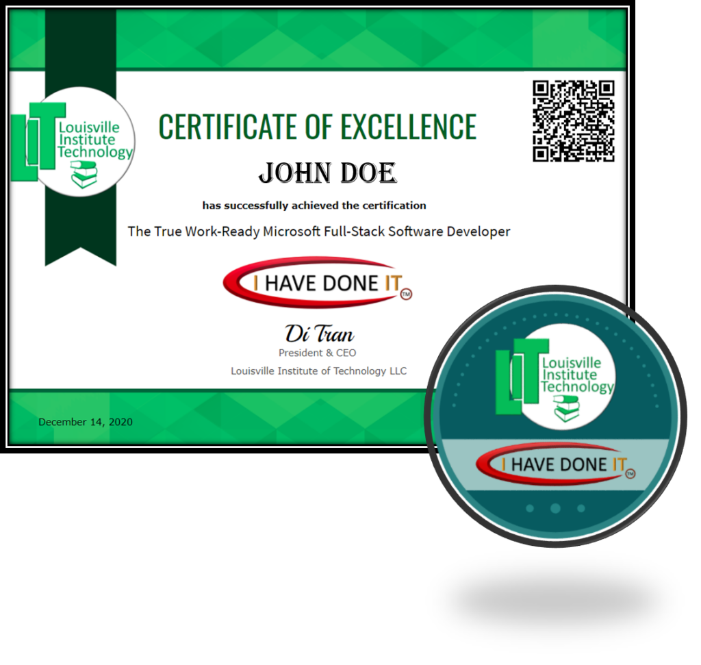 I HAVE DONE IT - Certification of Completion