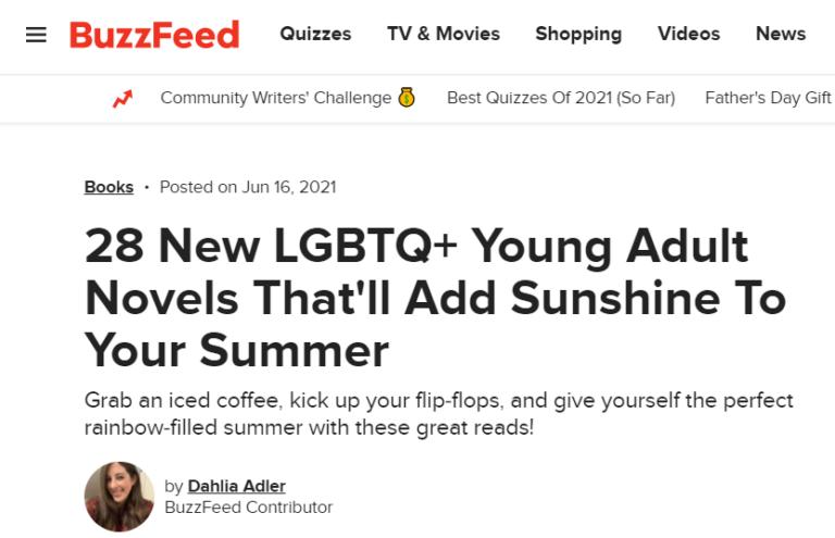 LGBTQ+ YA Novels for 2021 Summer