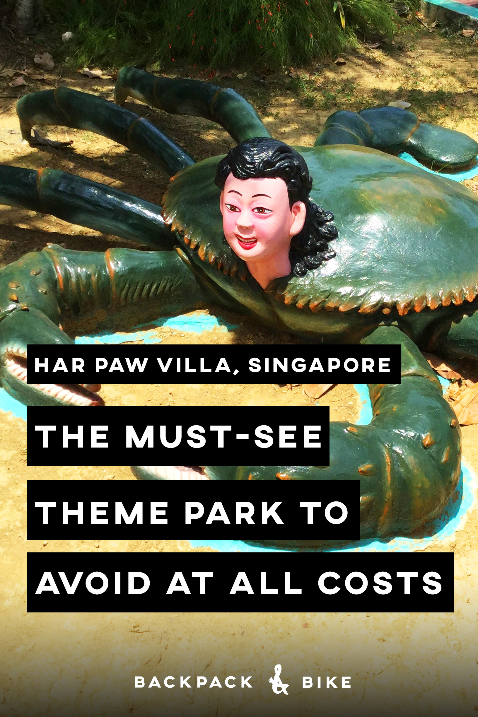 Today's trip to Har Paw Villa in Singapore made no sense. This bizarre post-apocalyptic abandoned theme park had a very strange flavour about it. Perhaps these images will help you understand.