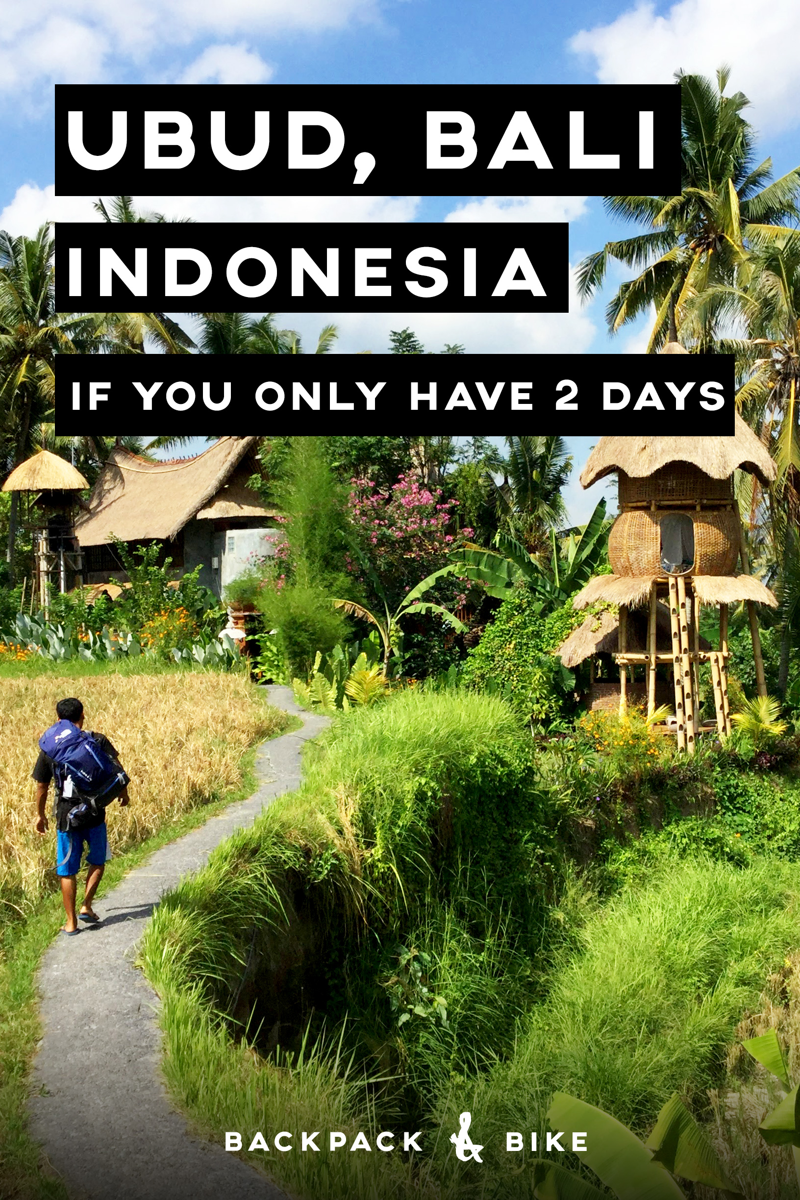 Visiting Ubud Bali if you only have 2 days   When you visit Indonesia, you definitely need to check out Ubud, Bali. If you're only there for a short time, here is how to make the most of it, even on a backpacker budget!
