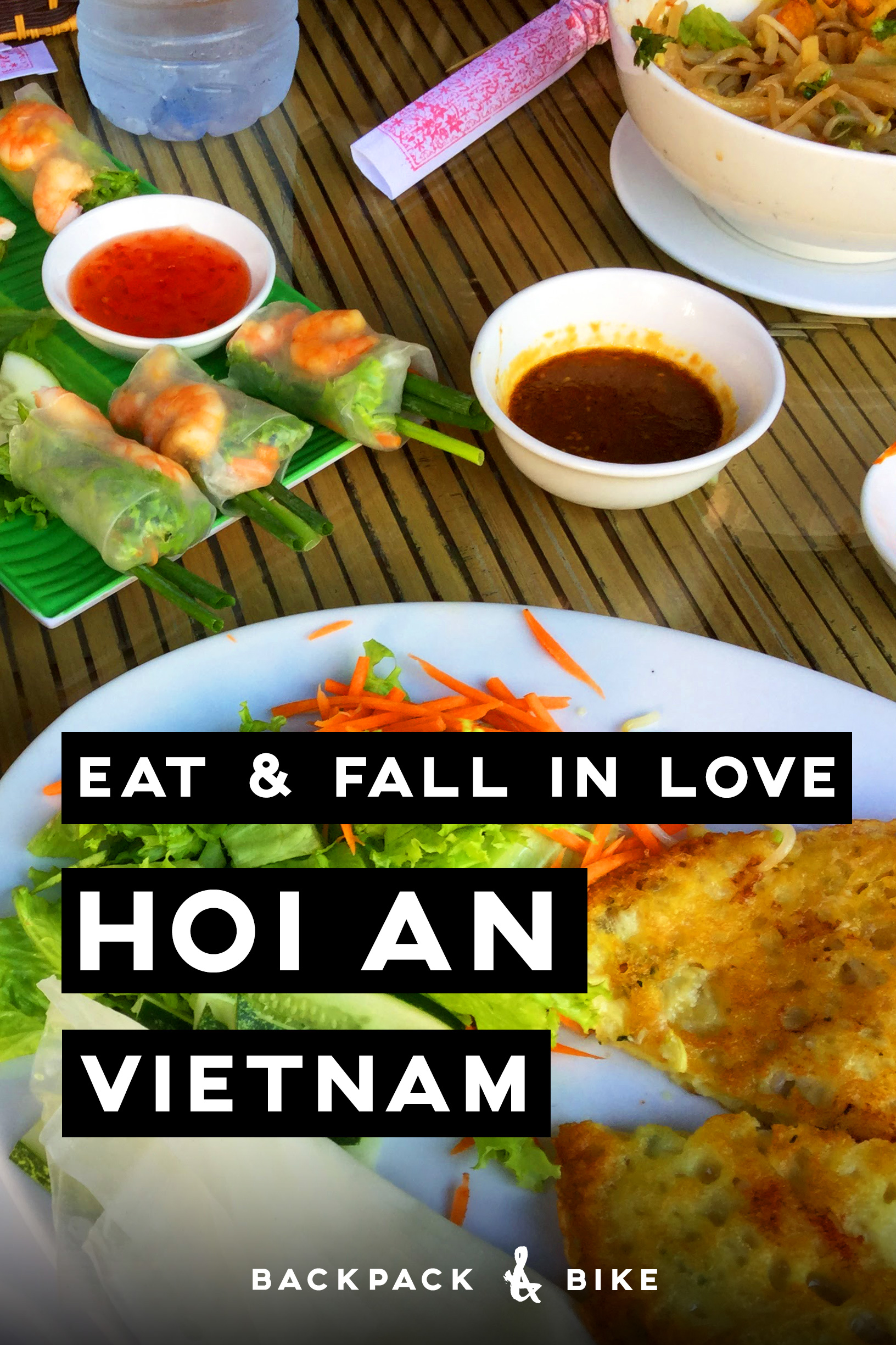 Hoi An Vietnam   Eat & Fall in Love   This charming little town is that obligatory mid stop on your journey across Vietnam. It's a romantic place to take it easy and try all the local foods. Pin to read later (or now...)