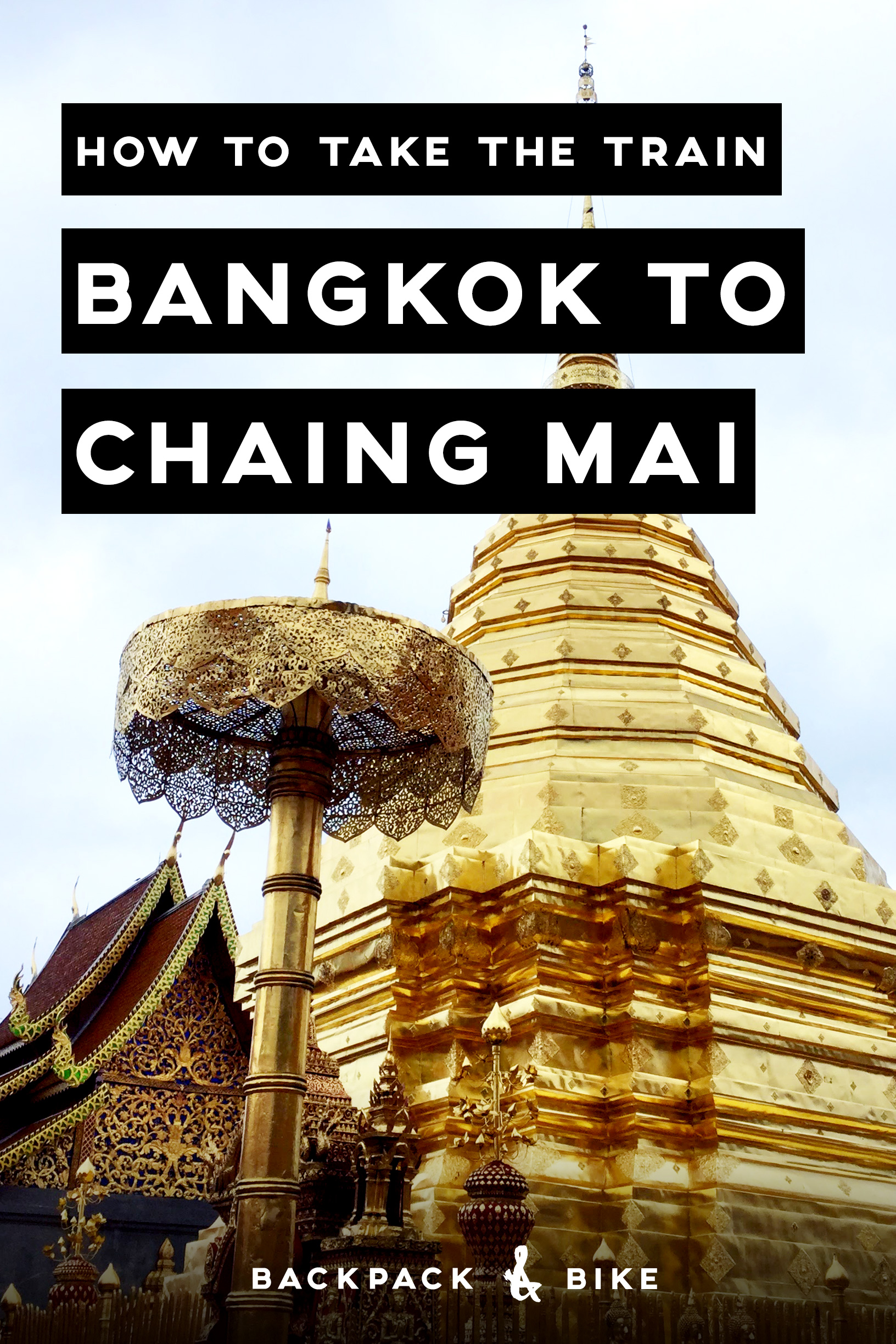 How to take the train Bangkok to Chiang Mai   If you're visiting Thailand, chances are you'll arrive in Bangkok. But you want to get to Chiang Mai? No worries, it's easy. Pin for reference!