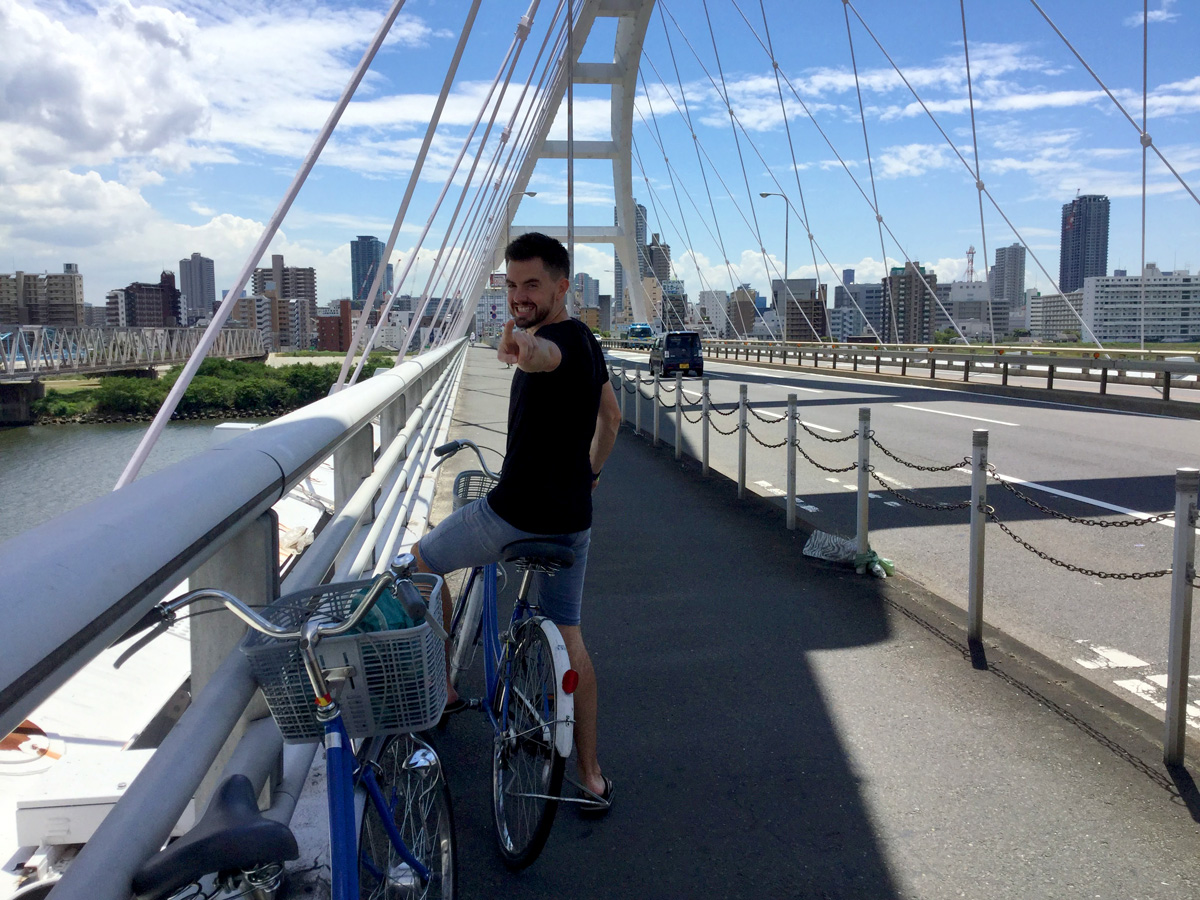 Cycling Osaka   6 Money Saving Tips for Traveling Japan