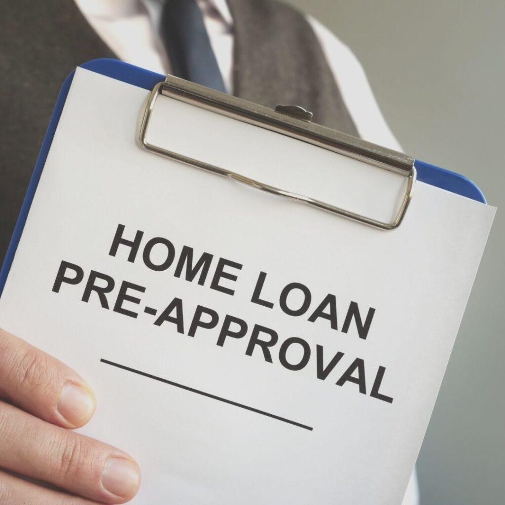 home loan pre-approval approval lender lending denver colorado home homes clipboard paper blue suit tie