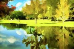 lake-reflection-fauz-painted-bill-barber