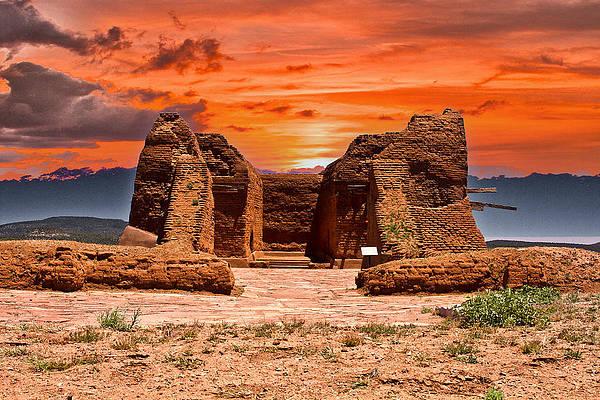 fiery-sky-over-pecos-pueblo-bill-barber.jpg