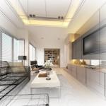 Living Room Blue Print