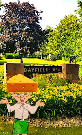 Bayfield WI, sign with Parker Flatly