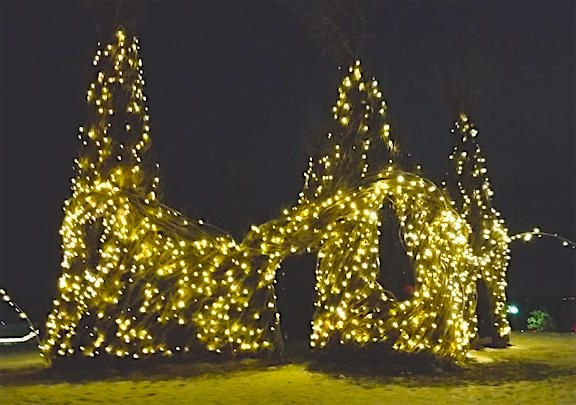 Arb lighted Willow structure