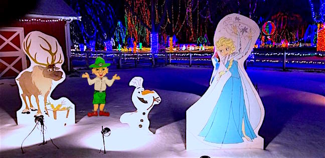 Frozen characters yuck it up with Parker