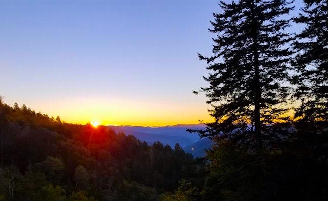 Newfound Gap Scenic Overlook in Great Smoky Mountain National Park