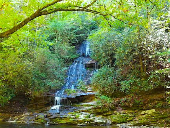 Toms Branch Falls in the Deep Creek section of Smoky Mountain National Park
