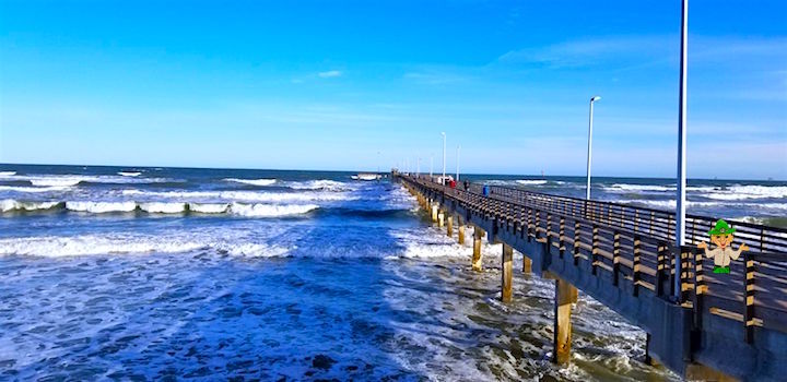 Bob Hall Pier stretches out into the Gulf of Mexico