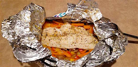 Grilled fish all cooked and ready to eat