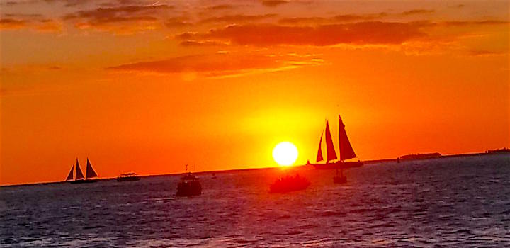 Keywest sunset from Mallory Square