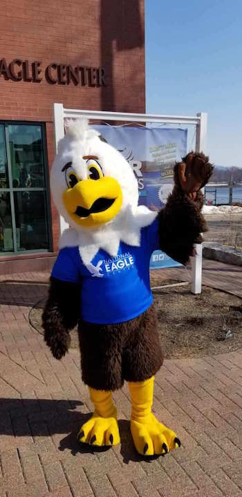 The bird mascot of the National Eagle Center