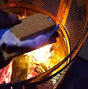S'more over the campfire