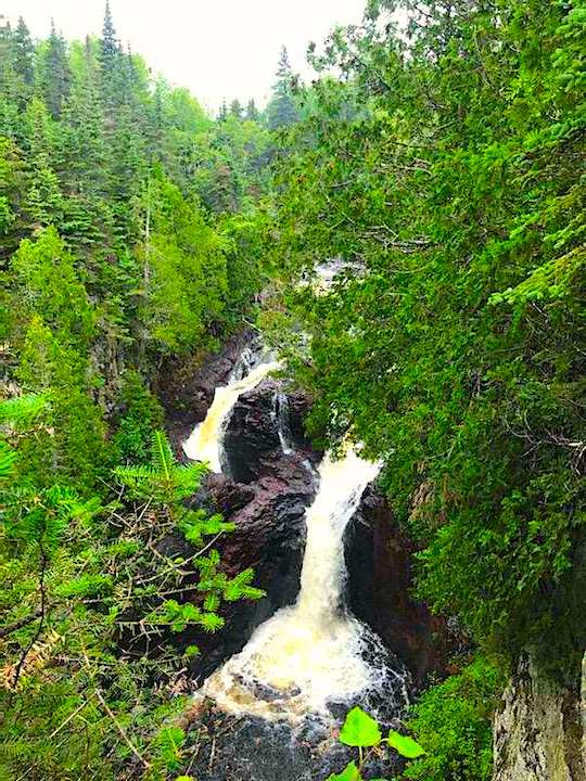 The Devil's Kettle waterfall at Judge C.R. Magney State Park