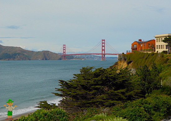 The Golden Gate Bridge as viewed from China Beach