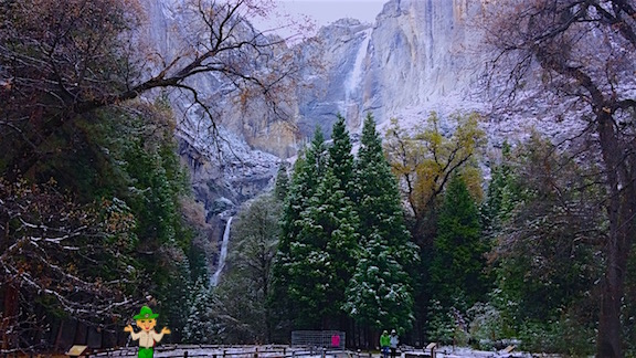 The centerpiece of Yosemite National Park is Yosemite Falls